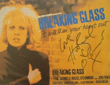 A068 - HAZEL O'CONNOR Autographed top 10 x 8 photo