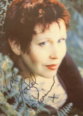 A069 - HAZEL O'CONNOR Autographed top 10 x 8 photo
