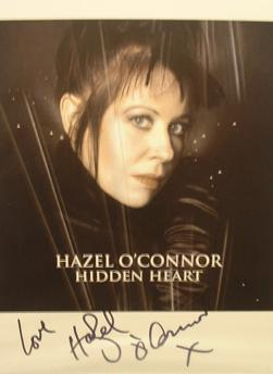 A070 - HAZEL O'CONNOR Autographed top 10 x 8 photo
