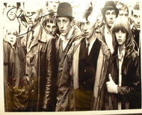 A092 - Quadrophenia reunion Signed 10x8 photo by PHIL DANIELS