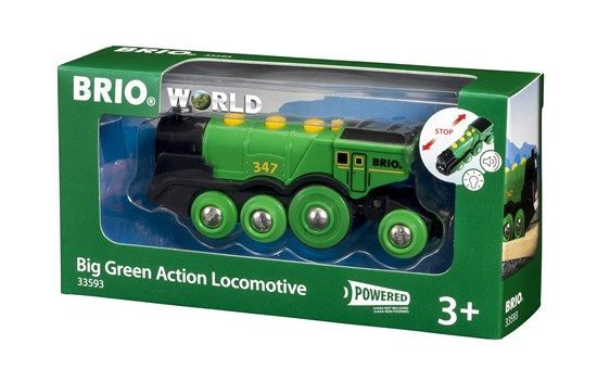 BRIO 33593 Big Green Action Locomotive