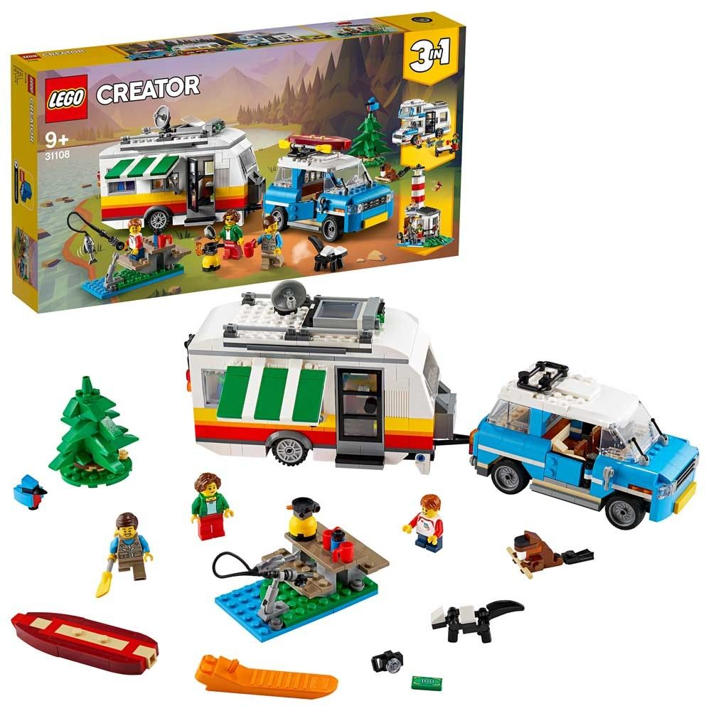 LEGO Creator 3in1 Caravan Family Holiday Car 31108 Age 9+ 766pcs