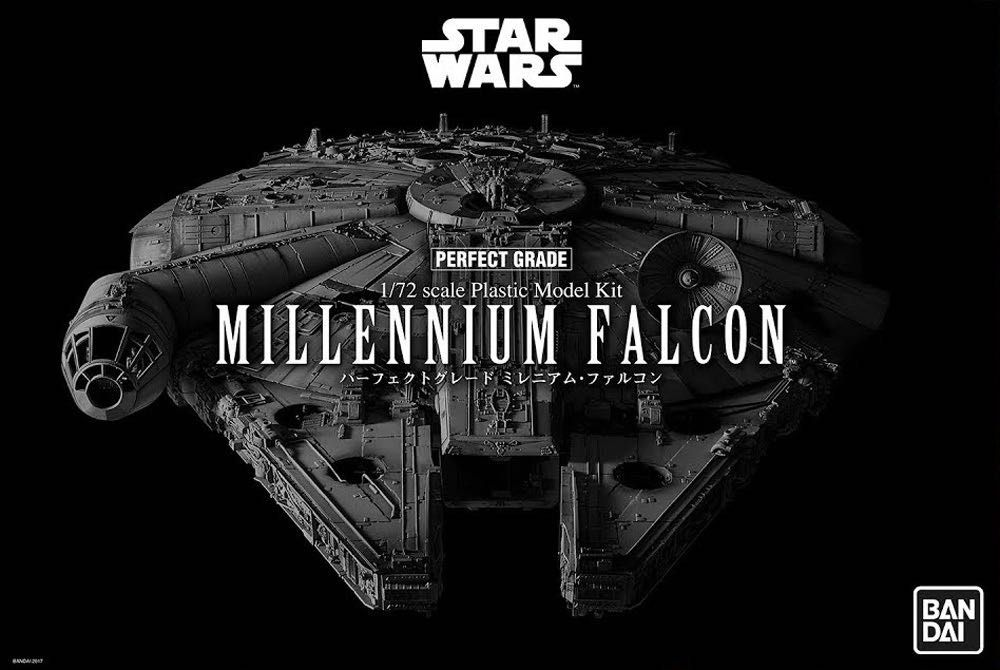 Revell RV01206 Bandai Perfect Grade Star Wars Millennium Falcon Plastic Model kit, Various, 48.2cm