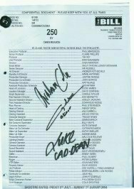 THE BILL script 250 signed by 3