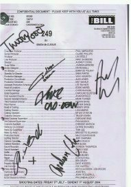 THE BILL Signed Script Episode 249 signed by 6