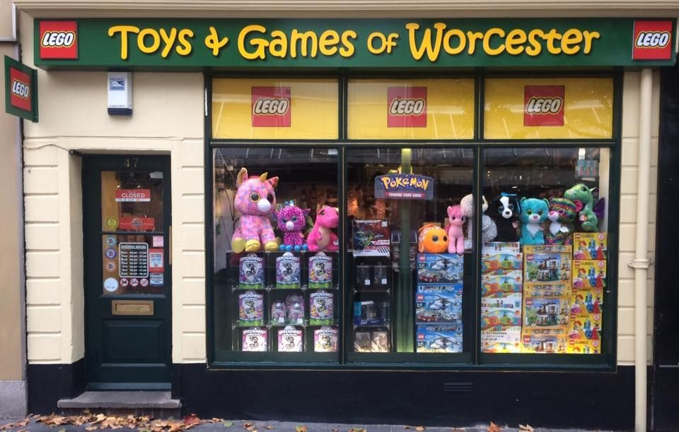 Toys & Games Of Worcester. Open 9.30 - 5.30 Mon - Sat & 10.30 - 4.30 Sunday